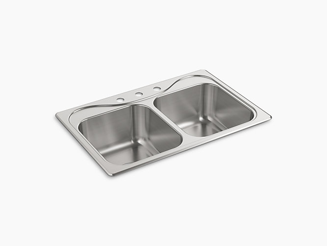 """Southhaven®Top-Mount Double Equal Sink, 33"""" x 22"""" x 8-1/2""""-related"""