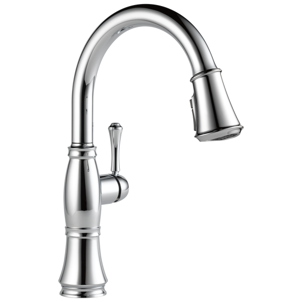 Cassidy™ Single Handle Pulldown Kitchen Faucet In Lumicoat Chrome MODEL#: 9197-PR-DST-related