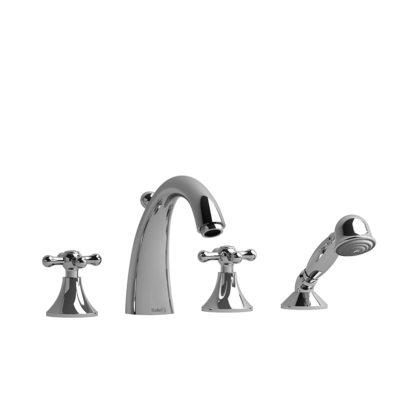 FI12+ 4-PIECE DECK-MOUNT TUB FILLER WITH HAND SHOWER-related