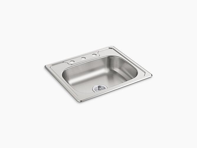 "Middleton®Top-Mount Single-Bowl Kitchen Sink, 25"" x 22"" x 6""-related"