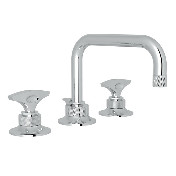 Graceline U-Spout Widespread Bathroom Faucet - Polished Chrome with Metal Dial Handle | Model Number: MB2009DMAPC-2-related