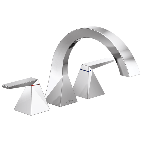 Two-Handle Roman Tub Trim, image 1 Two-Handle Roman Tub Trim TRILLIAN™ Trillian™ Two-Handle Roman Tub Trim In Chrome-related